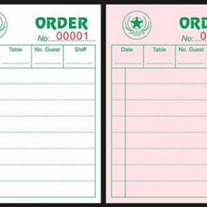 Mẫu Order Quán Cafe Green Star