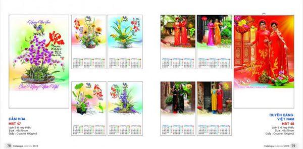 Lịch 5 Tờ – Cắm Hoa