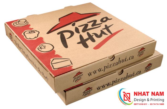 In hộp giấy đựng bánh Pizza Hut
