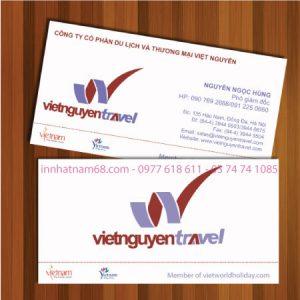 Mẫu Card Visit Du Lịch