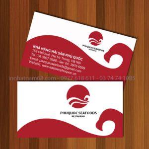 Mẫu Card Visit Nhà Hàng