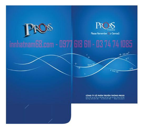 In Mẫu Kẹp File công ty Pross Media