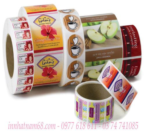 In tem Decal cuộn cửa hàng đồ ăn nhanh