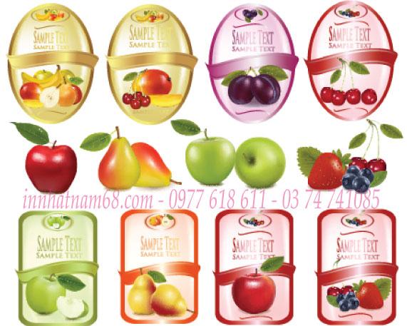 In tem decal trái cây nhập khẩu