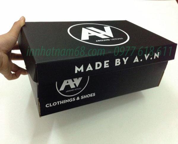 In hộp giấy carton sóng cho shop thời trang