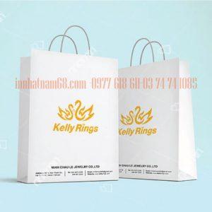 In Túi Giấy Cho Cửa Hàng Trang Sức Và đồng Hồ Kelly Rings.