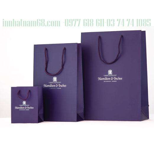 In mẫu túi giấy cho shop Inches