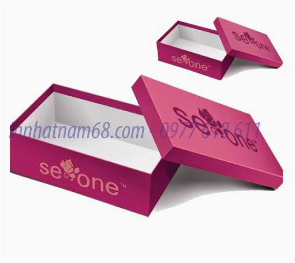 In hộp giấy cho hãng mỹ phẩm Seaone