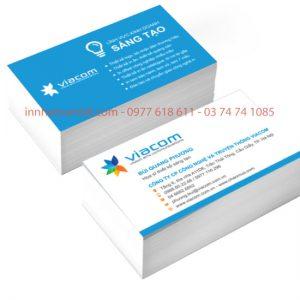 Mẫu Card Visit Công Ty Truyền Thông VIACOM