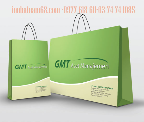 In túi giấy cho công ty GMT