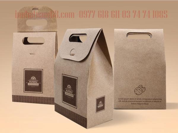 In túi giấy cho cửa hàng đồ ăn nhanh