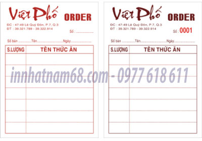 In Order Nhà Hàng - Cafe