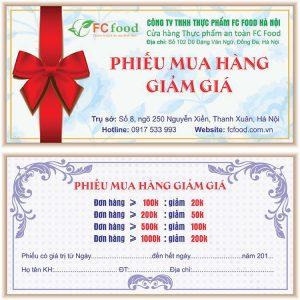 In Voucher Giảm Giá Cho Công Ty Thực Phẩm FC Food Giá Cạnh Tranh.