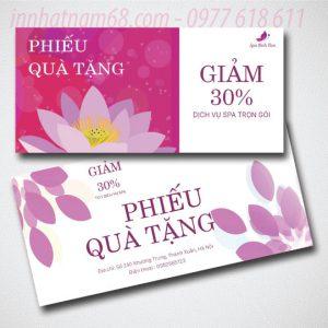 In Voucher Giảm Giá Cho Spa Linh Đan Giá Cạnh Tranh.