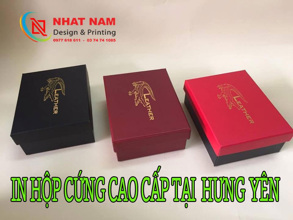 in hộp cứng cao cấp tại Hưng Yên
