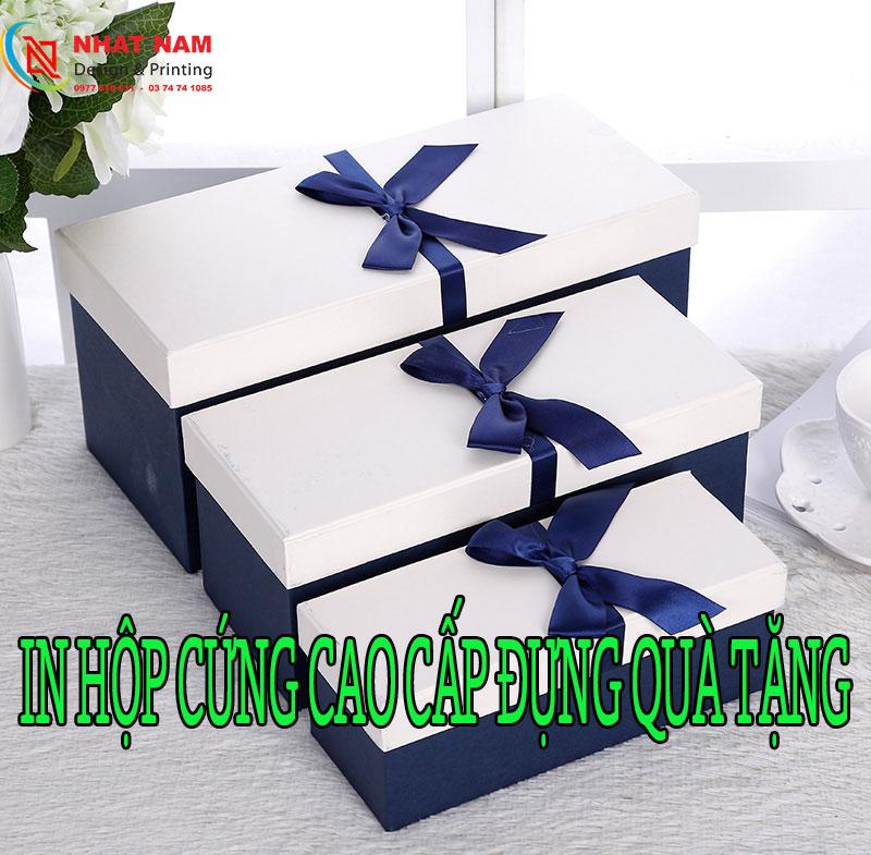 In hộp cứng cao cấp đựng quà tặng