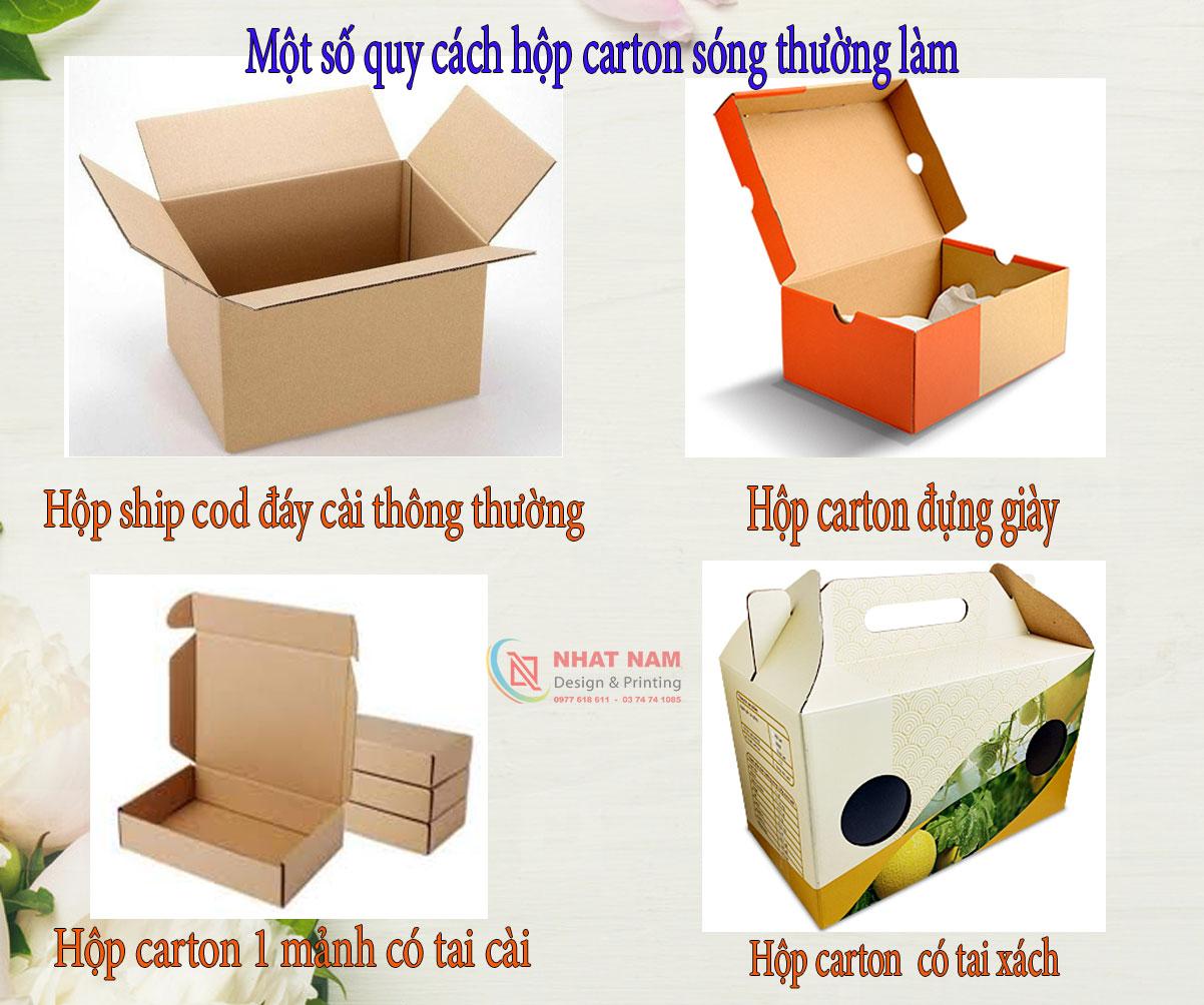 Quy cách in cho hộp carton sóng