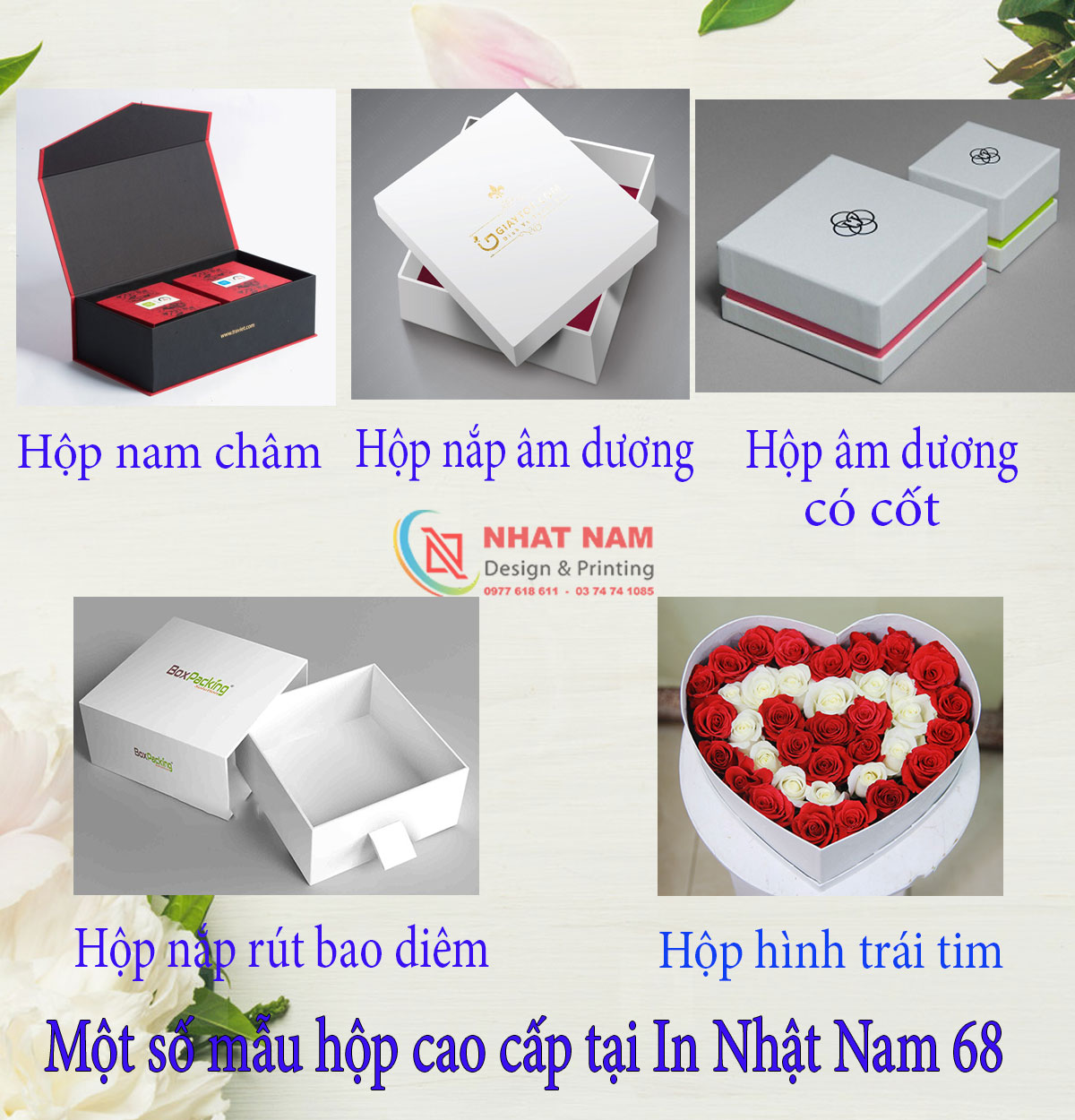 Quy cách in cho hộp cứng cao cấp