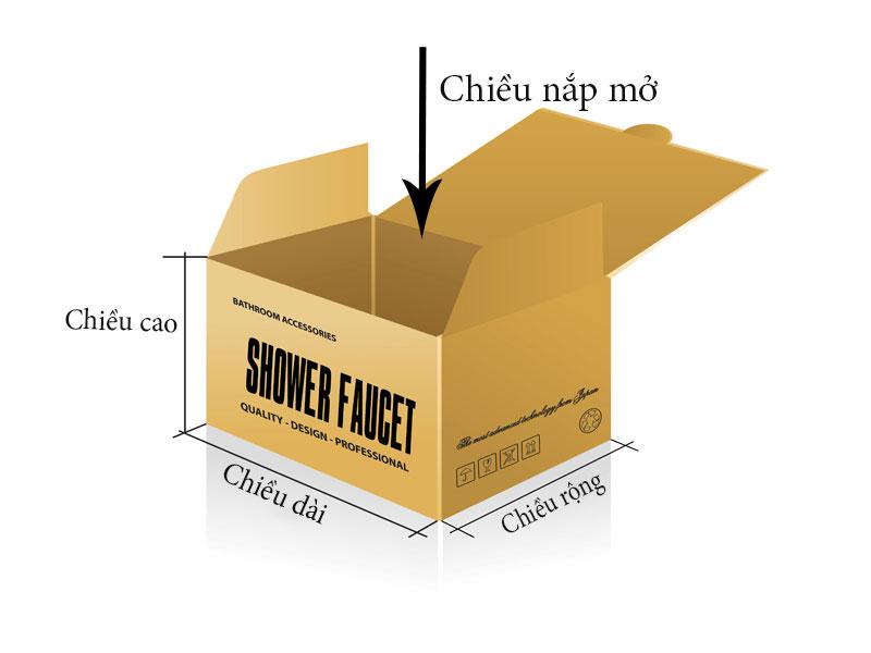 cách đo kích thước để in hộp giấy