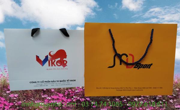 Túi giấy đựng mỹ phẩm hàn Vikor